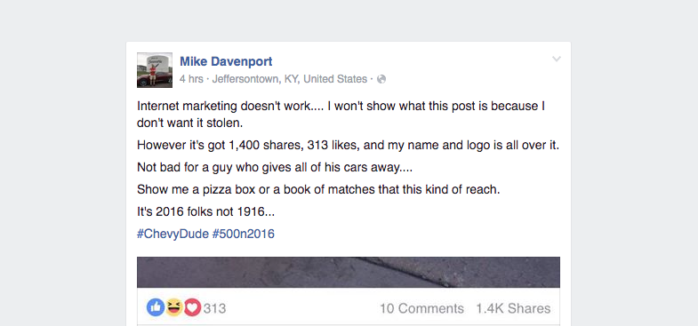 Mike Davenport on Facebook