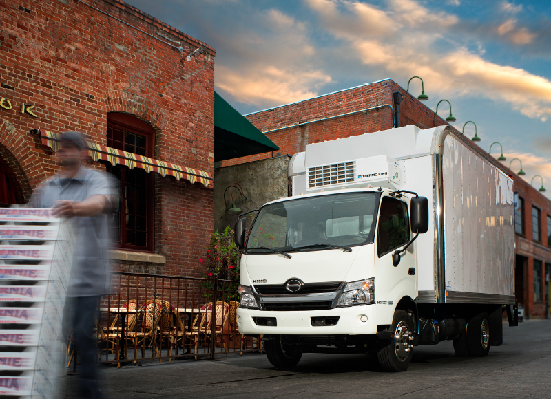 hino truck driver and package